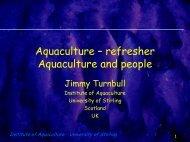 Aquaculture - Staff.stir.ac.uk - University of Stirling