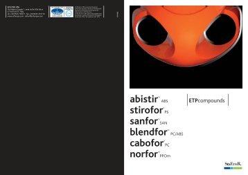 abistirTM stirofor® sanforTM blendforTM cabofor ... - hofer-plast.at