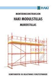 Haki murer stillaser monteringsveiledning - Byggesystemer