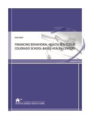 Financing Behavioral Health Services