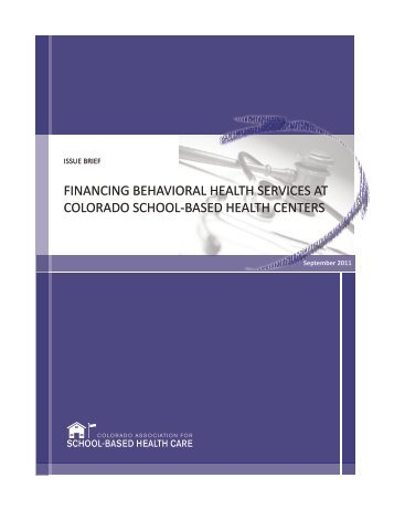 Financing Behavioral Health Services