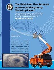The Multi-State Fleet Response Initiative Working Group Workshop ...