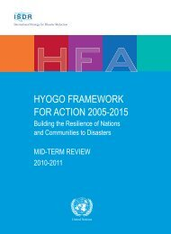 Hyogo Framework for Action 2005-2015: Building the - unisdr