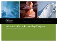 Fairmont's Green Partnership Program