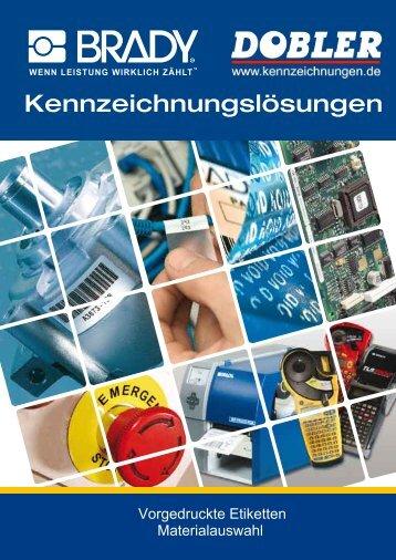Katalog Vorgedruckt Material - Kennzeichnungen.de