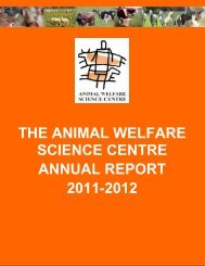 the animal welfare science centre annual report 2011-2012