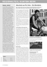 Velojournal 3/2011 - Pro Velo Kanton Bern
