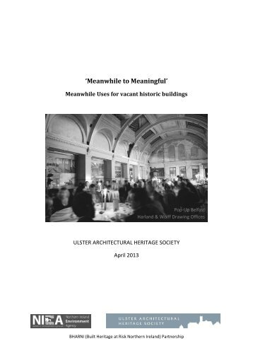 'Meanwhile to Meaningful' - Ulster Architectural Heritage Society