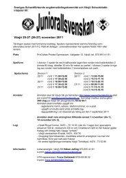 Juniorallsvenskan - Sveriges Schackförbund