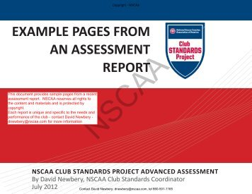 sample report - National Soccer Coaches Association of America