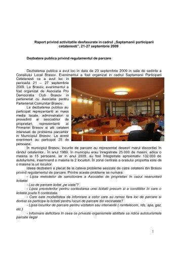 Saptamana Participarii Cetatenesti 21 - Asociatia Pro Democratia ...