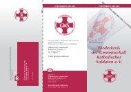 Flyer FGKS e. V. - Gemeinschaft Katholischer Soldaten
