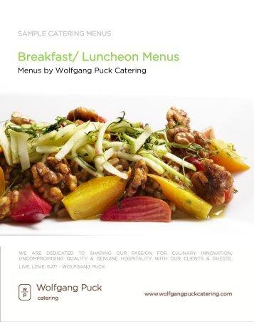 Wolfgang puck breakfast menu