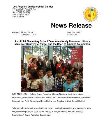 Microsoft Word - NR - targetlibrary2012-final.pdf - Los Angeles ...