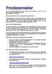 Praxissemester - Progymnasium Rosenfeld