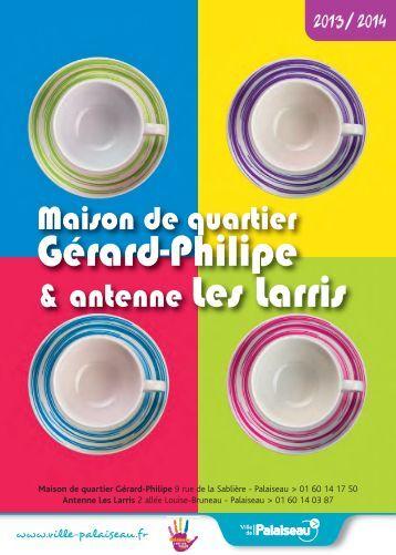 Maison de quartier Gérard-Philipe 2013-2014 - Ville de Palaiseau