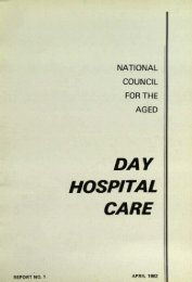 Day Hospital Care - National Council on Ageing and Older People