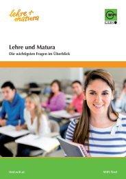 Informationsbroschüre Lehre und Matura - WIFI Tirol