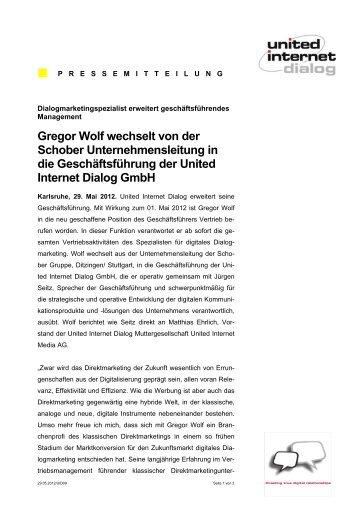 Gregor Wolf wechselt von der Schober Unternehmensleitung in die ...