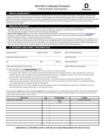 Student Aid Eligibility Worksheet - Templates and Worksheets