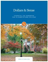 Financial Aid Handbook - Elizabethtown College
