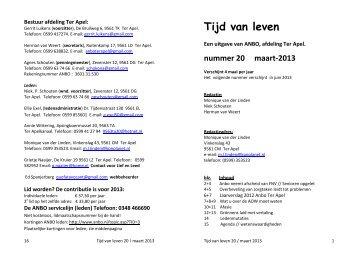 No. 20 Maart 2013 - Anbo