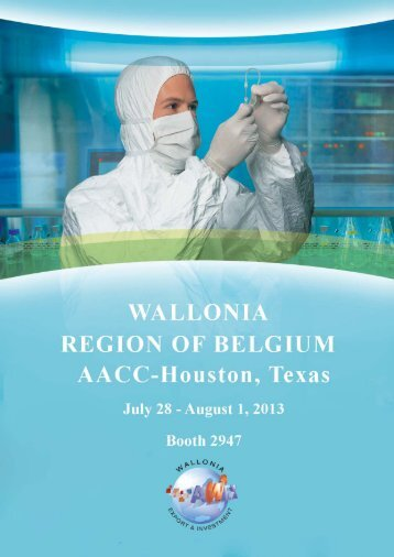 Come and visit the Wallonia booth 2947 at AACC-Houston
