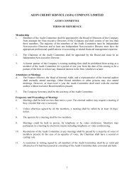 Terms of Reference of Audit Committee