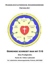 Gemeinde mit 5G - Reihe - johannesgemeinde.org.za