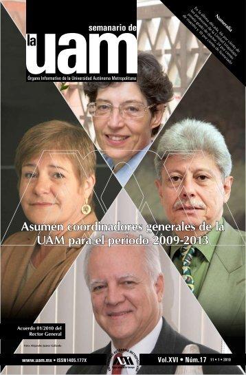 Asumen coordinadores generales de la UAM para el periodo 2009 ...