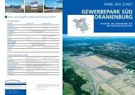 gewerbepark süd oranienburg - Brandenburgische Boden ...