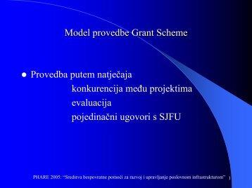 Model provedbe Grant Scheme