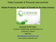 """Halal Cosmetic & Personal care seminar """"Innovation drives growth"""""""