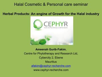 "Halal Cosmetic & Personal care seminar ""Innovation drives growth"""