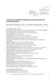 Protokoll der ordentlichen Delegiertenversammlung 2012 des ...