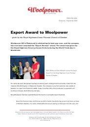 Export Award to Woolpower (Aug 2009)