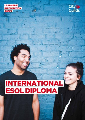INTERNATIONAL ESOL DIPLOMA - City & Guilds