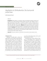 Aesthetics in Orthodontics: Six horizontal smile lines - Dental Press