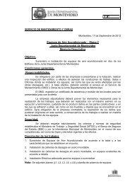 F.Nº Equipos de Aire Acondicionado – Etapa 2 Junta Departamental ...