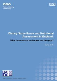 Dietary Surveillance and Nutritional Assessment in England: