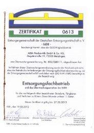 I ZERTIFIKAT. 0613 I - ALBA