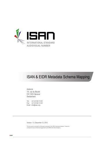 ISAN & EIDR Metadata Schema Mapping