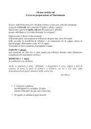 Presentazione e calendario degli incontri - Parrocchiaoreno.it