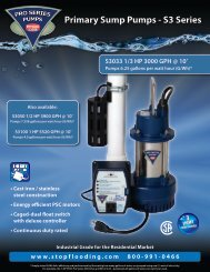 Pumps 6.25 gallons per watt hour (G/Wh) - Northern Plumbing Supply