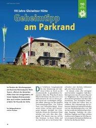 110 Jahre Gleiwitzer Hütte am Parkrand D