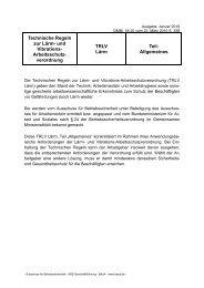 TRLV Lärm: Teil Allgemeines - Bundesanstalt für Arbeitsschutz und ...