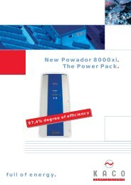 New Powador 8000xi. The Power Pack.