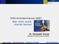 Dr. Hanspeter Georgi - Saarland - Ministerium für Wirtschaft