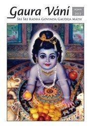 Gaura Vání srpen 2012 - Sri Sri Radha Govinda Mandir