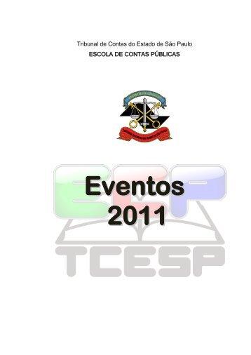 Eventos 2011 - Tribunal de Contas do Estado de São Paulo